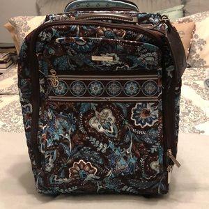 Gently used Vera Bradley Java Blue small suitcase